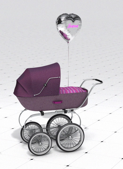 Baby Stroller & Balloon – Visual Playground #2